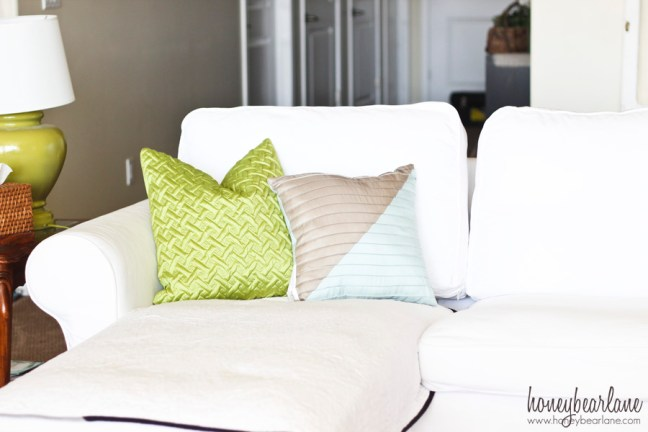 bhg colorblock pillow