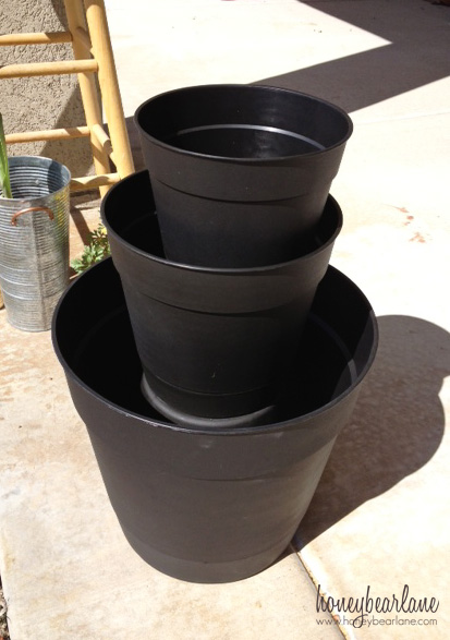 stacking a tiered planter