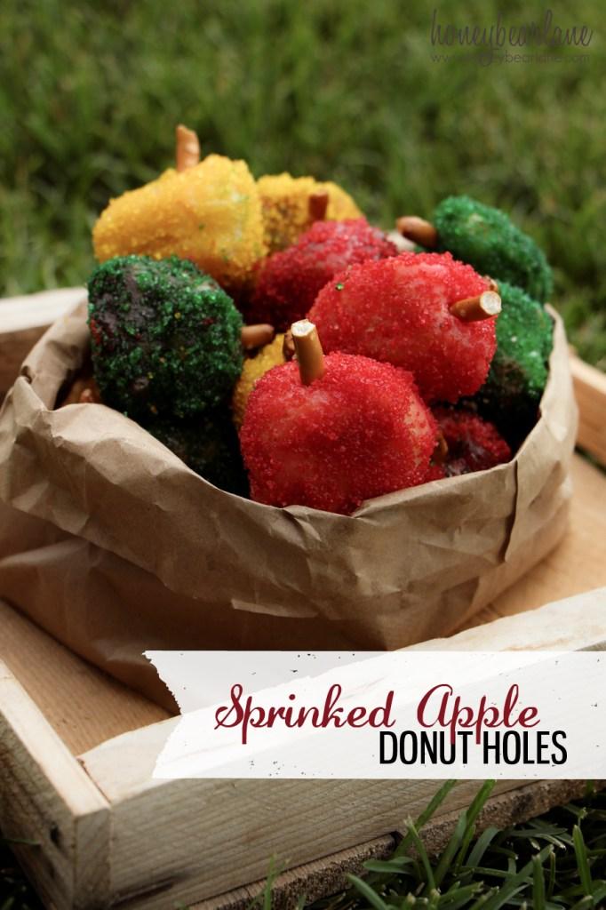 Sprinkled Apple Donut Holes