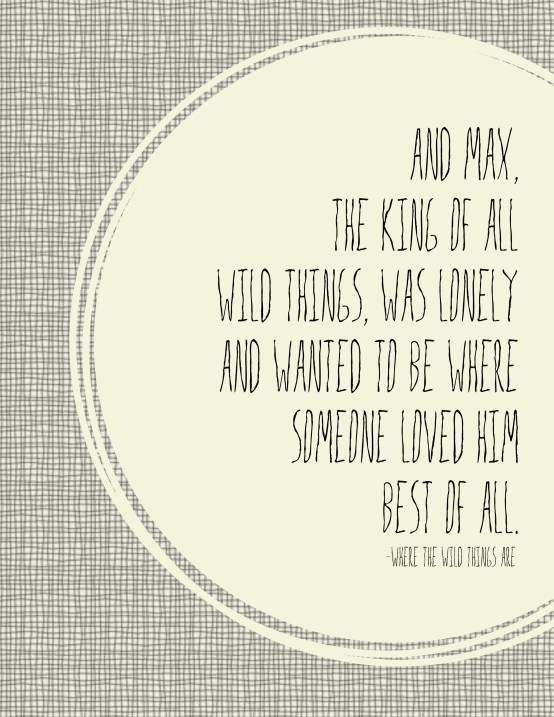 wild things quote