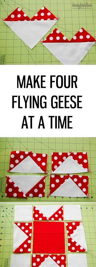 Make four flying geese at a time