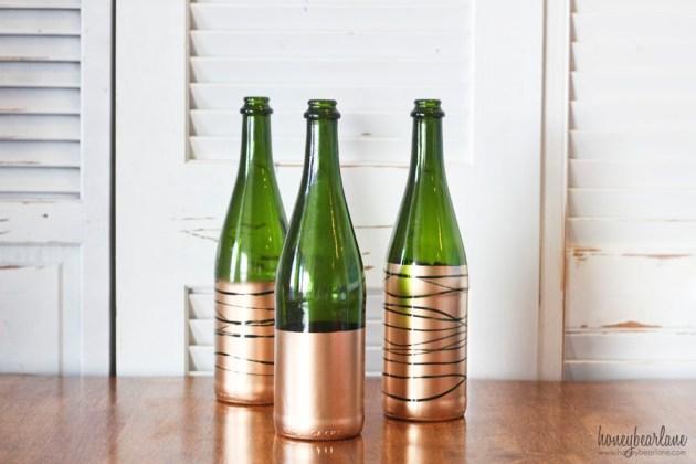 easy gold dipped bottles