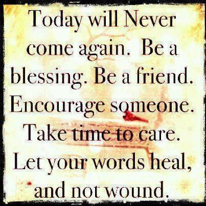 let your words heal, not wound