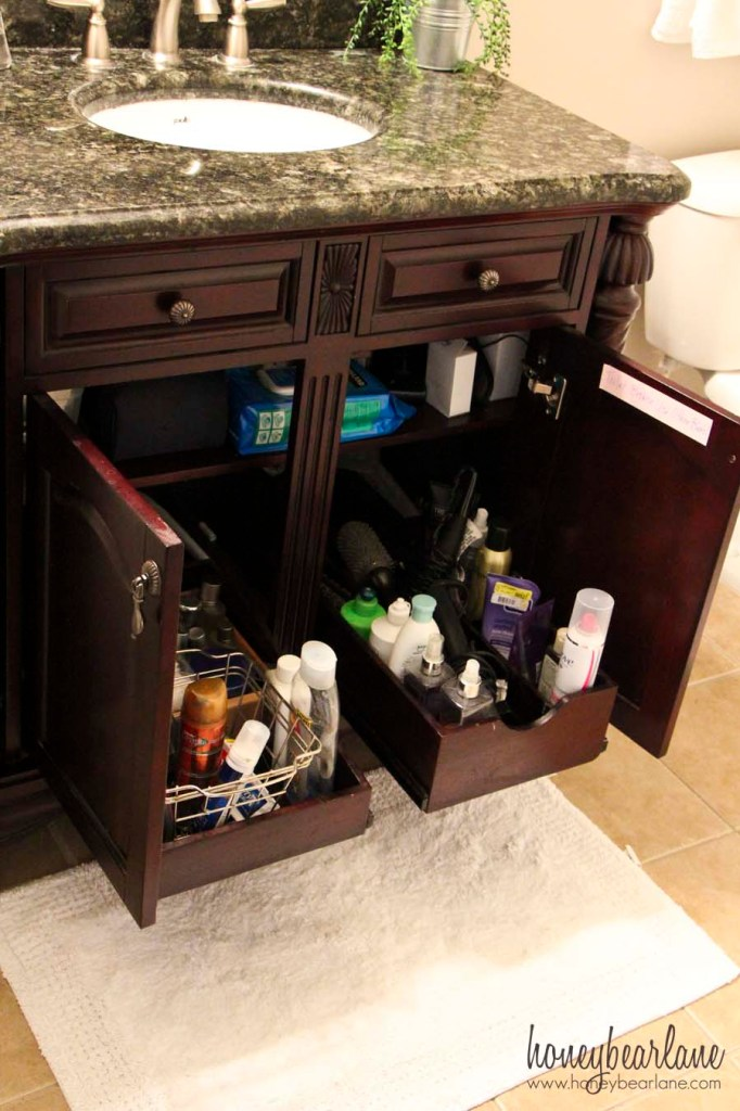 drawers under the sink