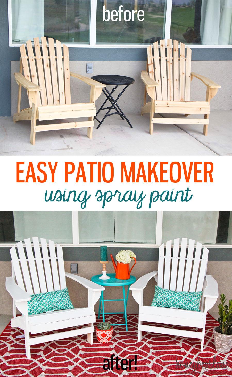Easy Patio Makeover - HoneyBear Lane on Backyard Patio Makeover id=16450