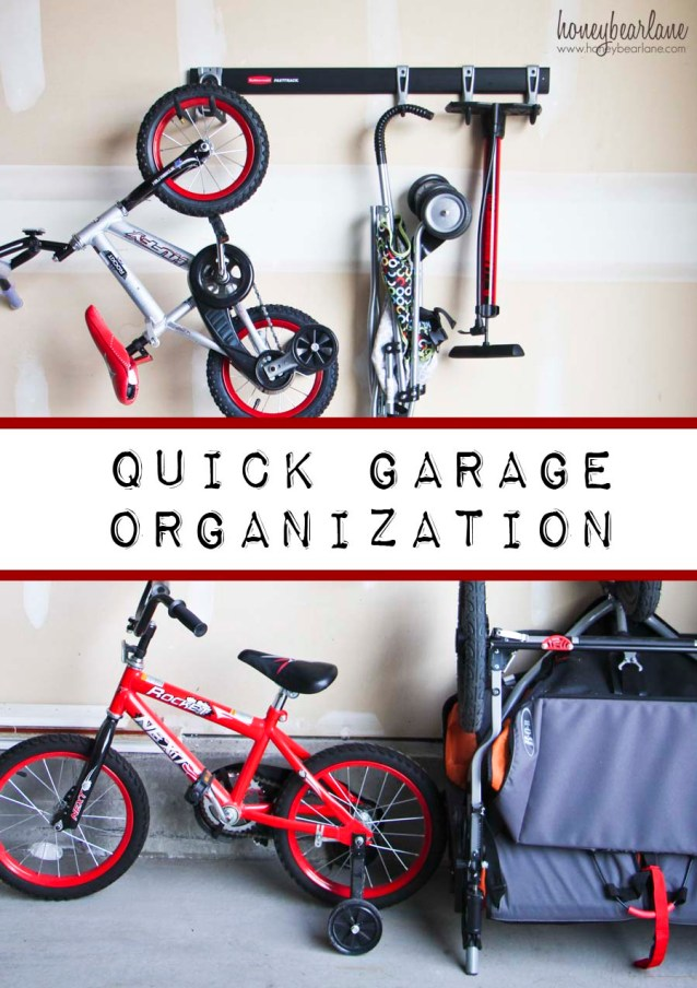 quick garage organization