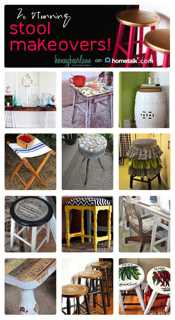 20 bar stool makeovers