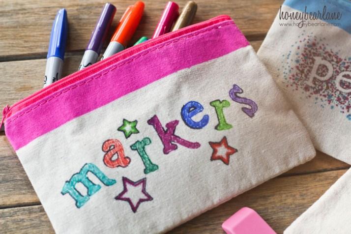 sharpie marker bag