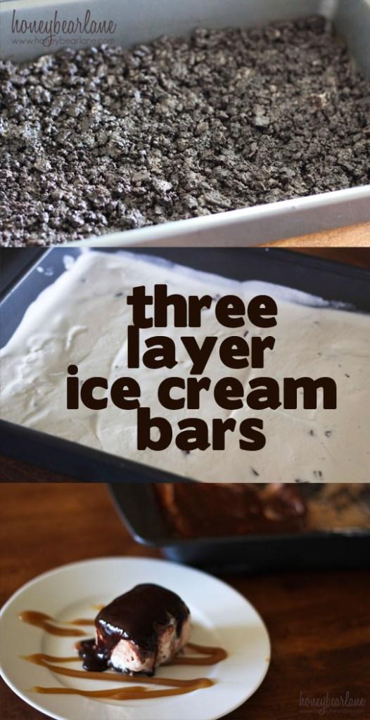 three layer ice cream bars so good