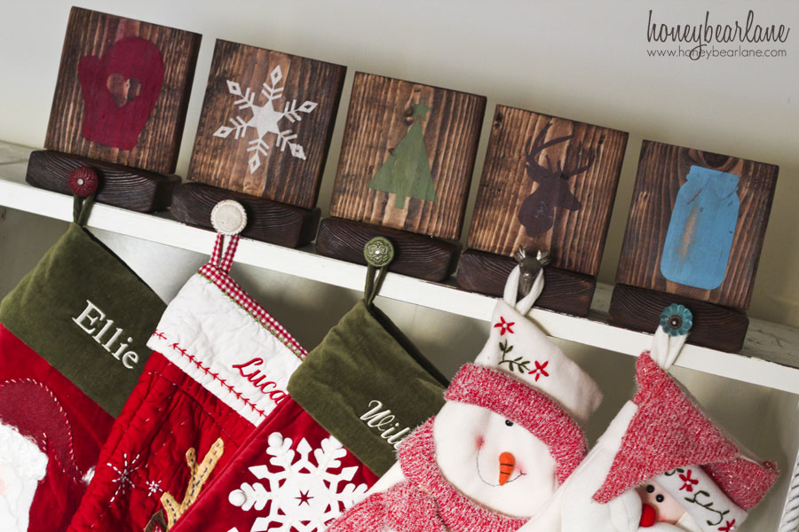 Rustic Stocking Holder | Breathtakingly Rustic Homemade Christmas Decorations
