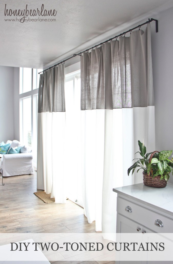 diy two tone curtains