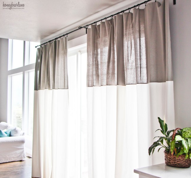 two toned curtains