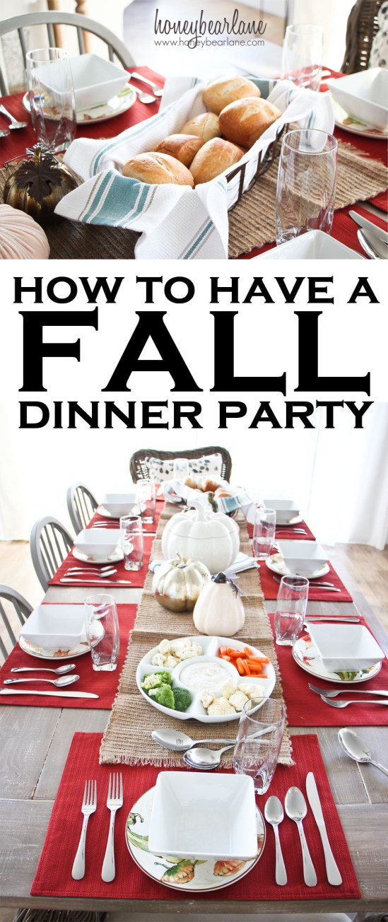 how to have a fall dinner party