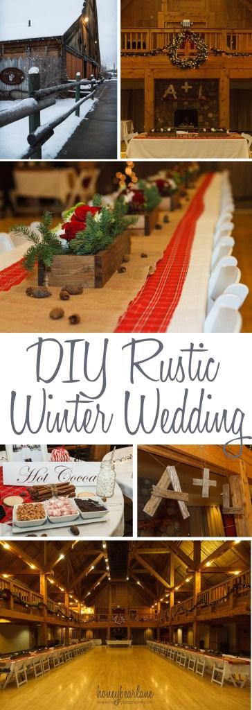 diy rustic winter wedding