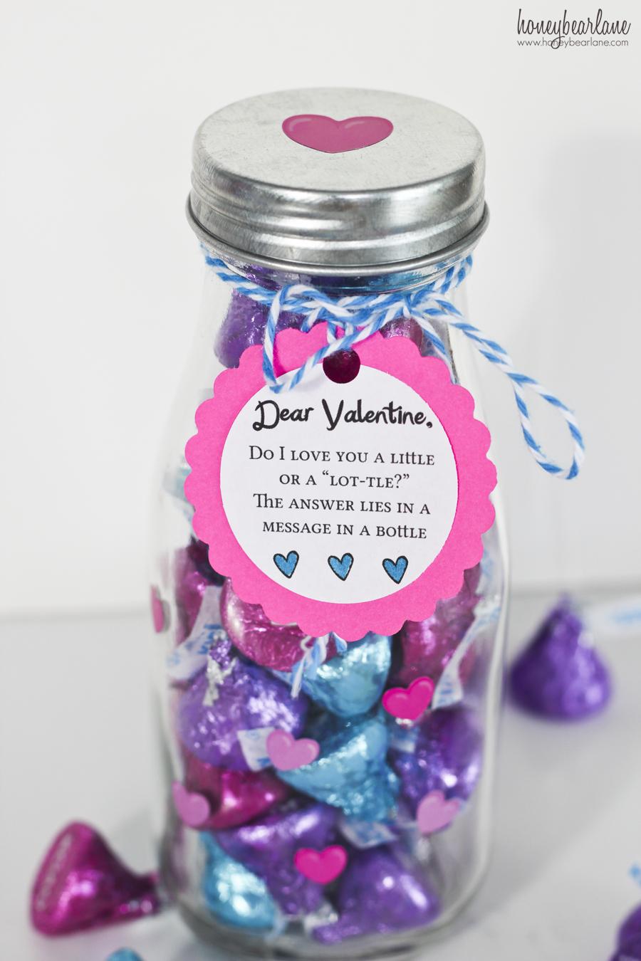 Message In A Bottle Valentine HoneyBear Lane