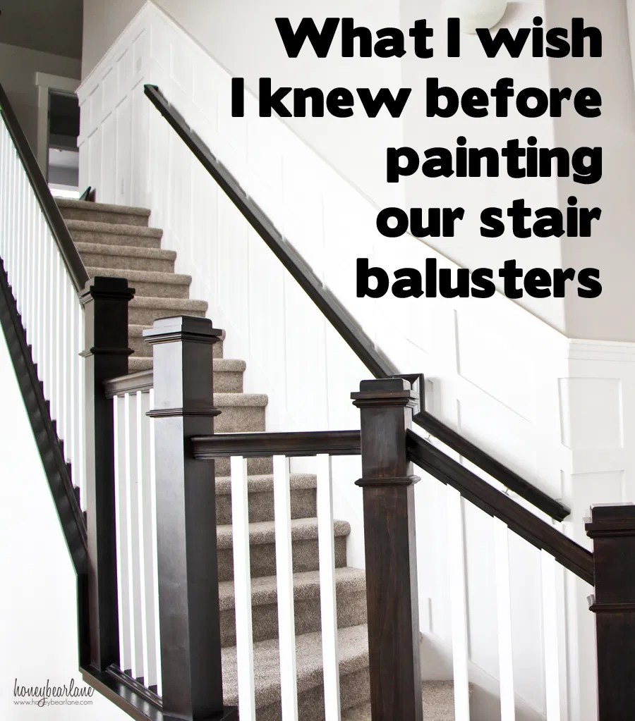 painting stair balusters