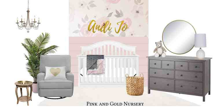 pink and gold nursery plans