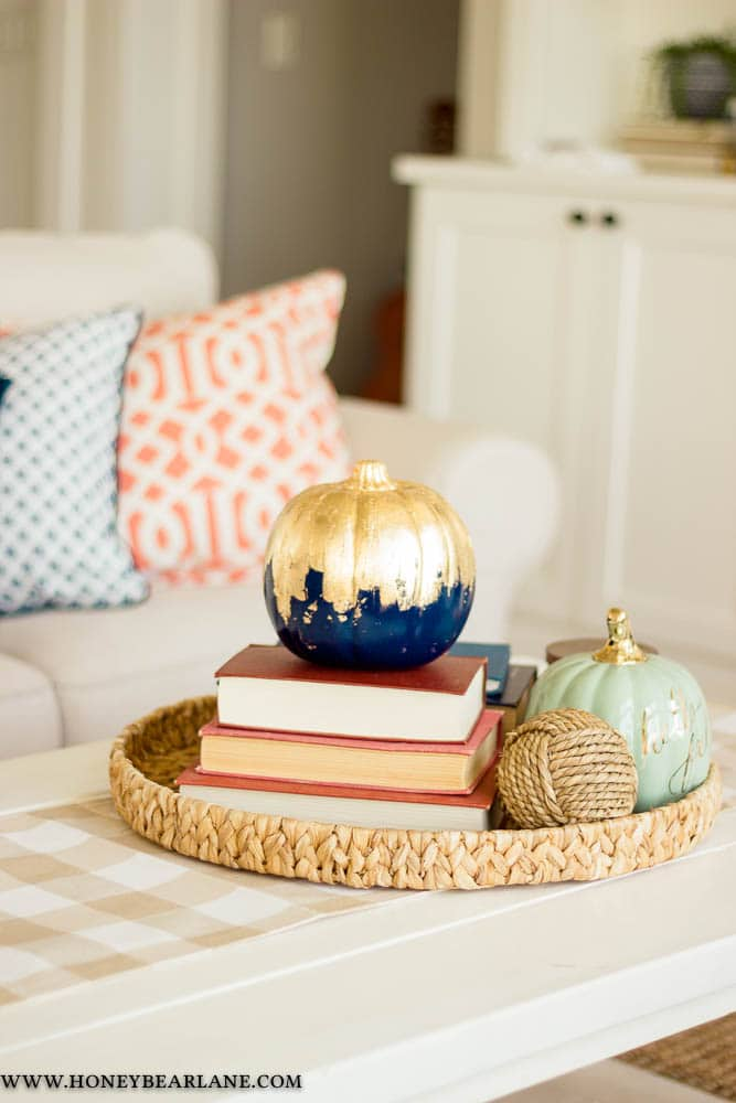 gold leaf pumpkin craft
