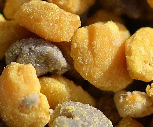 Bee-collected pollen pellets.