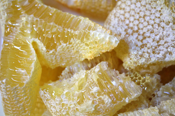 Comb honey without wax moths.