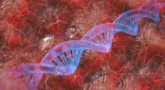 Artist's impression of DNA strand.