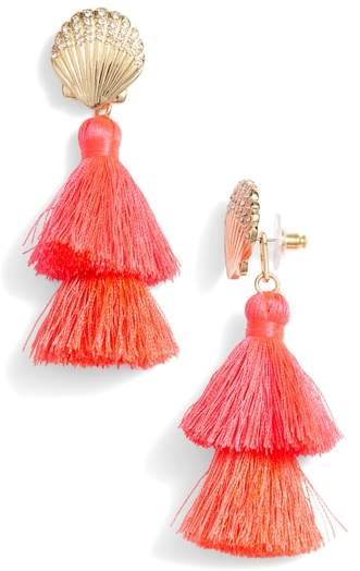R Shell Yeah Tassel Earrings