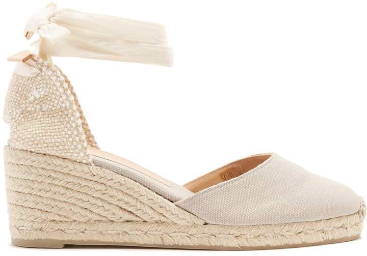 CASTAÑER Carina canvas wedge espadrilles