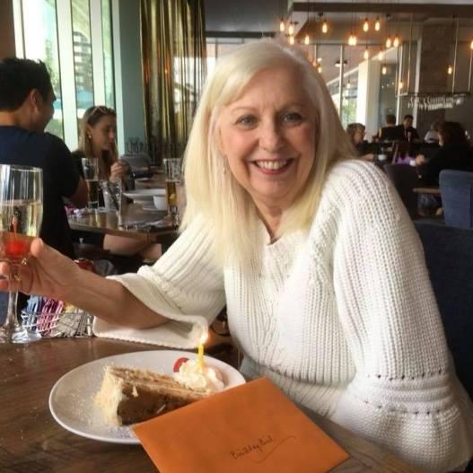 Carolyn Baum celebrating her birthday!