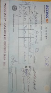 Aggrieved presenter of a cheque for clearing, slams N20 million suit against access bank PLC for illegal Acts*