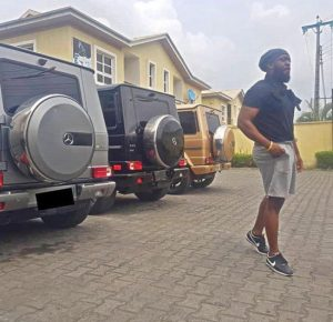 Timaya Flaunts His Collection Of Mercedes G-Wagon