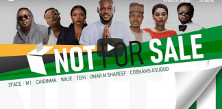 "2Baba, MI Abaga, Teni, Chidinma, Waje, Umar M Shareef & Cobhams Asuquo – ""NOT FOR SALE"""