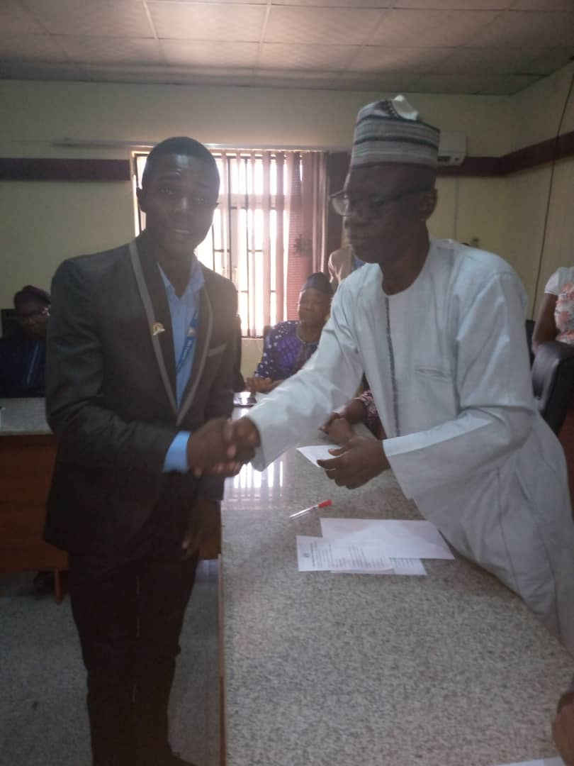 Rector of the Federal Polytechnic Offa inaugurate the new SUG executives