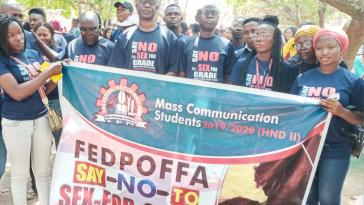 """""""You have a better future than us"""" FEDPOFFA Rector encourages students during campaign against Sex for Grade"""
