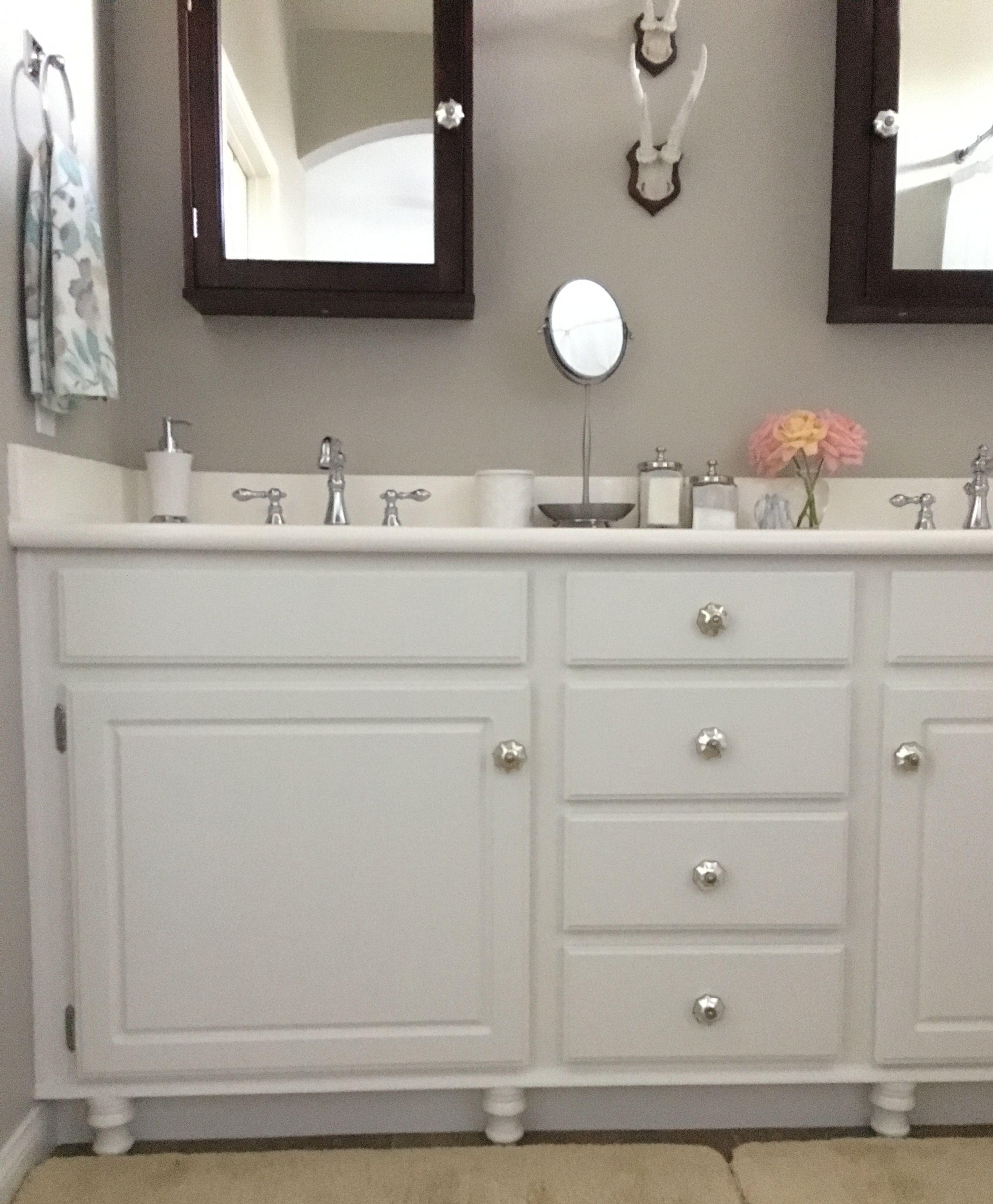 Adding Wood Feet To A Bathroom Vanity Honey N Hydrangea