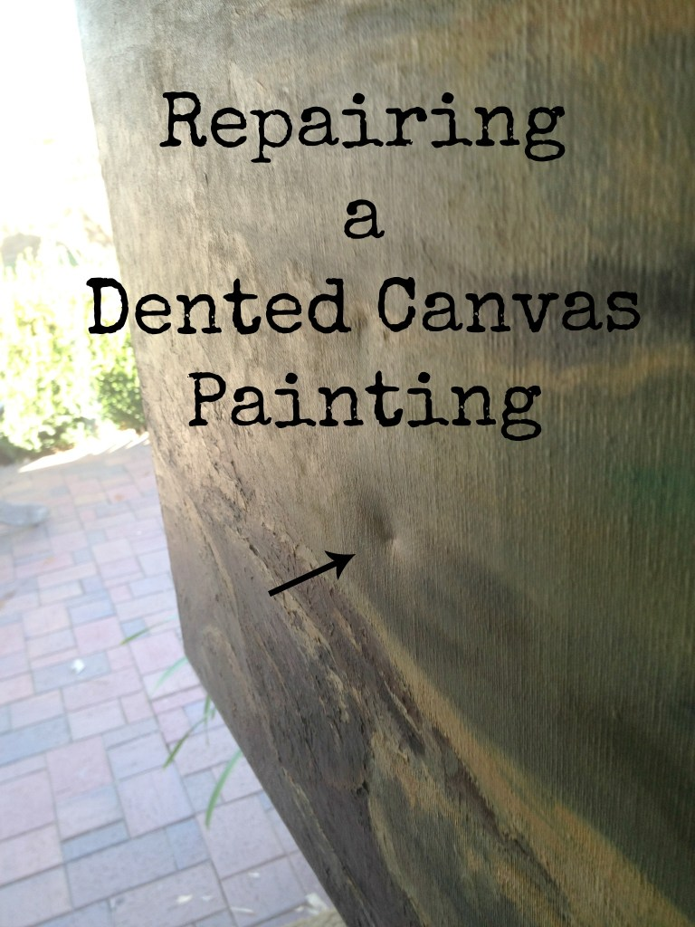 repairing-a-dented-canvas-painting