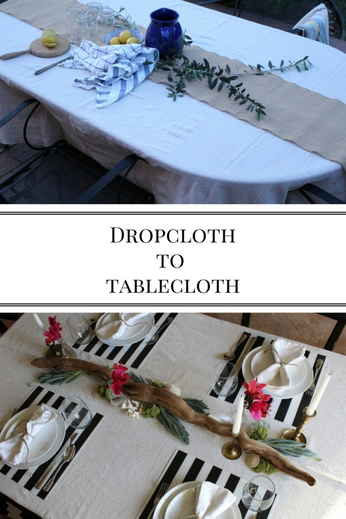 Dropclothto tablecloth