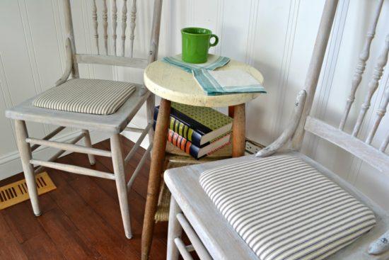 Whitewashed chair farmhouse style