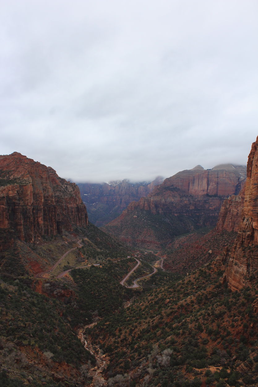 Views from the Canyon Overlook Trail in Zion