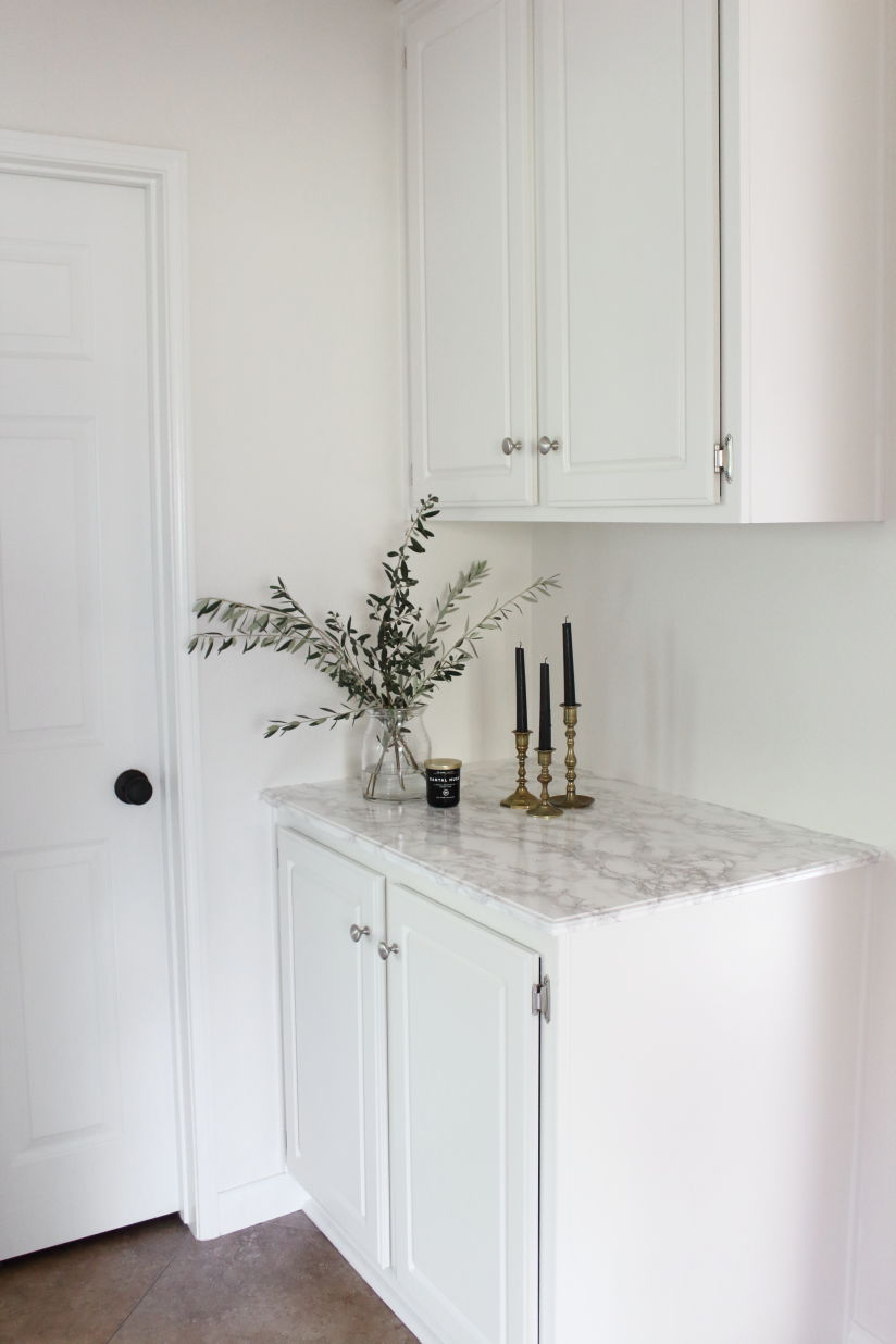 after picture of a marble contact paper countertop review