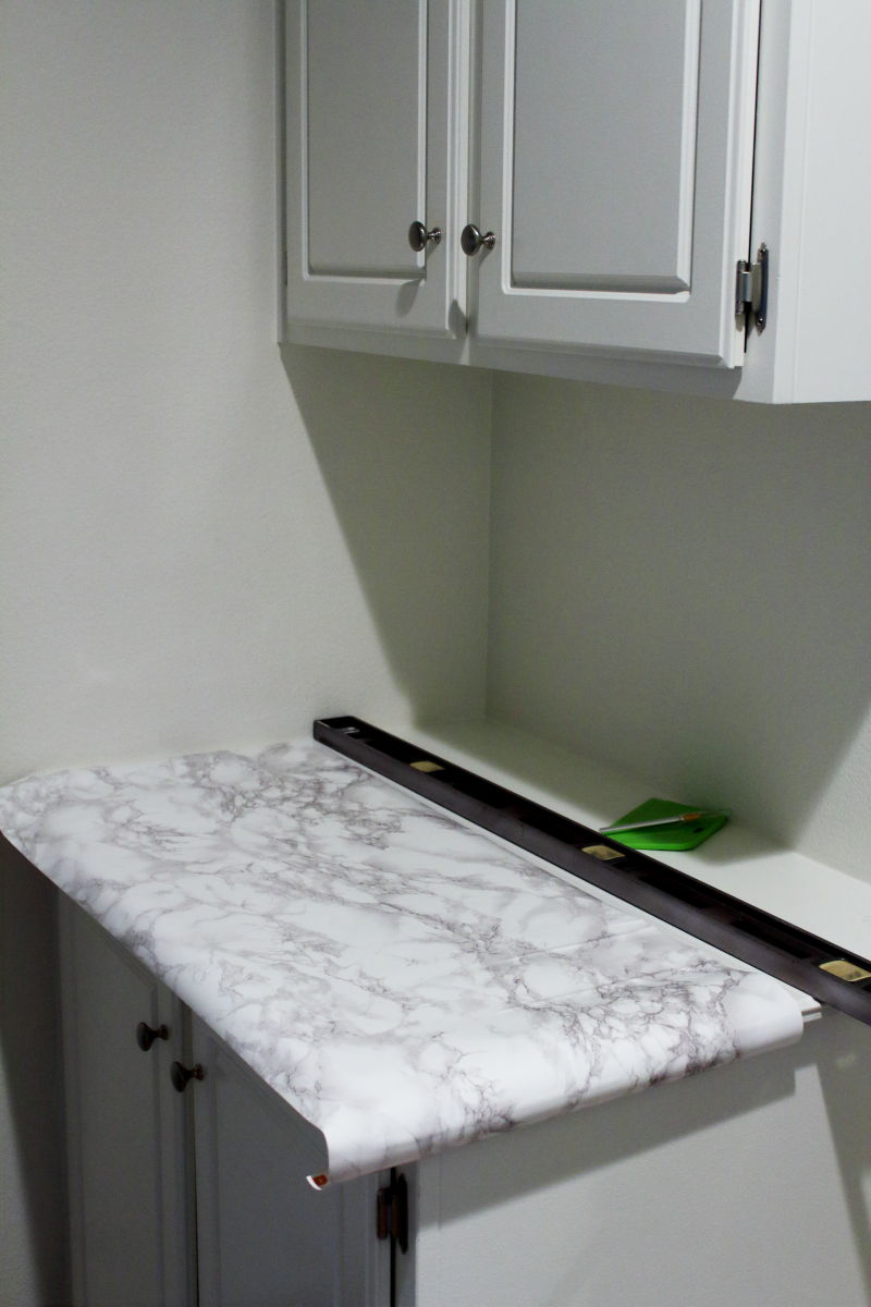 Marble contact paper step by step instructions