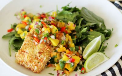 Paleo Macadamia Crusted Salmon for Date Night In