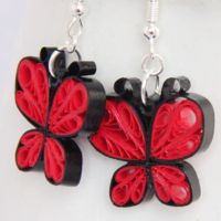 Make Your Own Paper Quilled Butterfly Earrings