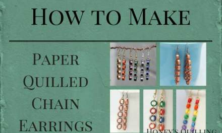 How to Make Chain Earrings from Paper Quilled Beads – Free Tutorial