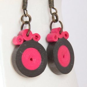 paper quilled earrings