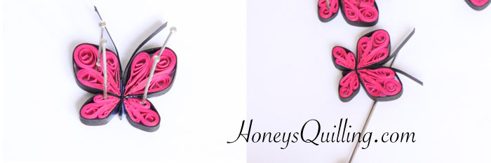 free paper quilling tutorial to make your own quilled butterfly jewelry