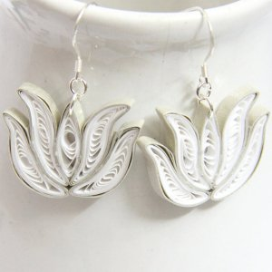 eco friendly wedding earrings lotus