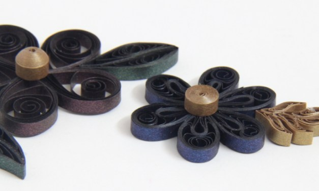 Jeweltone Quilling Papers with and without Mica Watercolors