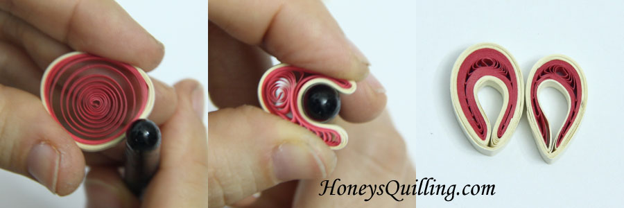 Tips on Making Paper Quilling Folded Circles for Malaysian Flowers - tutorial by Honey's Quilling