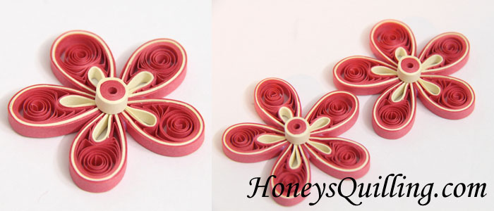 Free Paper Quilling Tutorial How to Make a Malaysian Flower - by Honey's Quilling