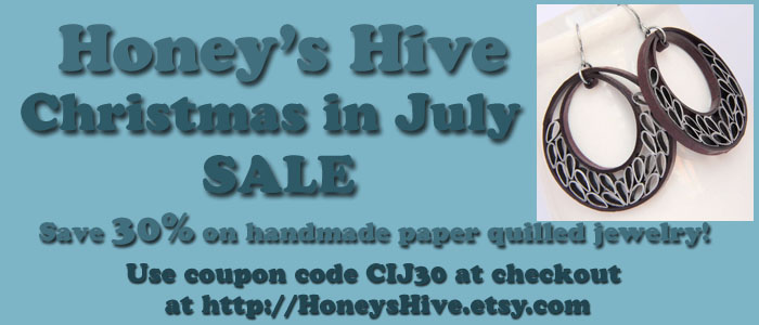 Christmas in July Sale at Honey's Hive!  30% off
